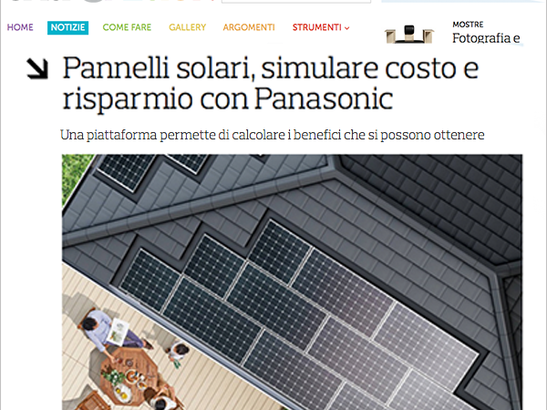 Panasonic Solar, the eco-friendly liked by the media