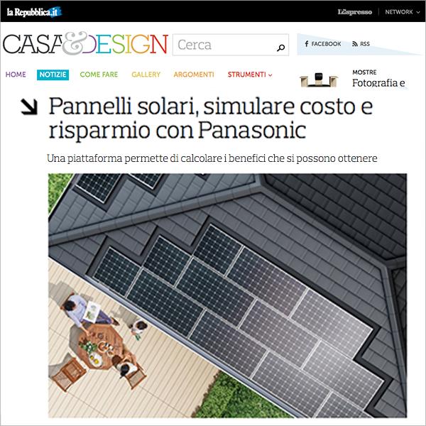 Panasonic Solar, the eco-friendly liked by the media