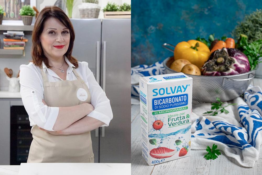 Le ricette con buccia di frutta e verdura di 5 Food influencer per Bicarbonato Solvay®