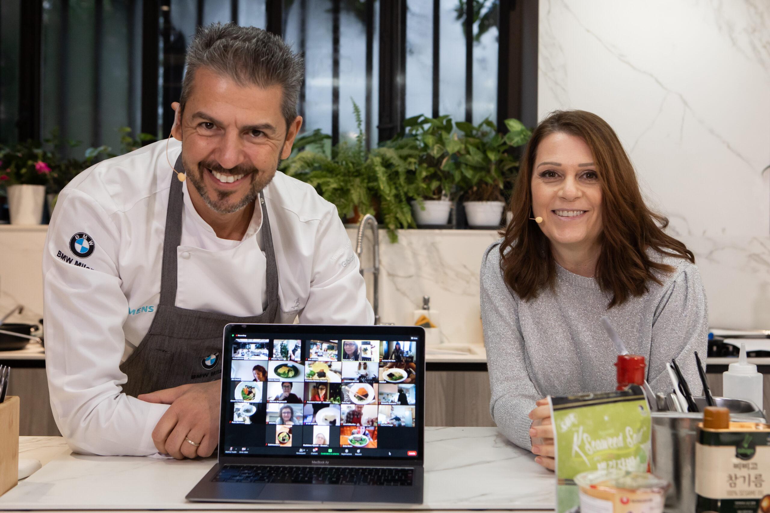 Cucinare con un chef stellato in videoconferenza. Come si organizza un virtual showcooking di successo