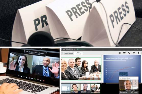 """Conferenze stampa in """"ambienti virtuali"""" con giornalisti che restano comodamente in redazione"""